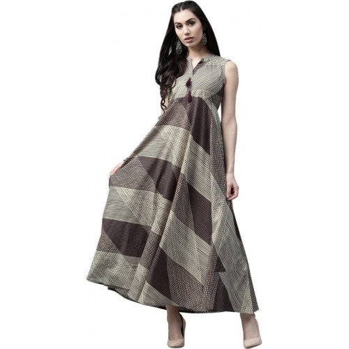 61ab7bd1e74b Aks Women Maxi Brown Dress ...